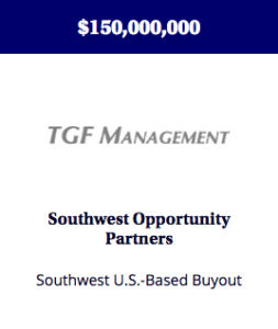 A fund focused on buyouts, recapitalizations, and strategic consolidations of growing and profitable lower-middle market companies in the southwestern U.S.