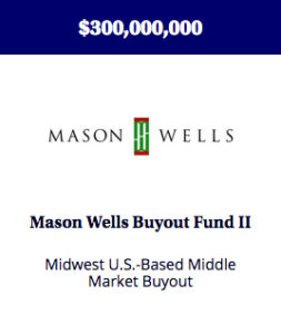 A fund created to make control investments in Midwest-based middle market buyout fund focused on control investments in the engineered products and services, outsourced business services and specialty packaging and paper industries